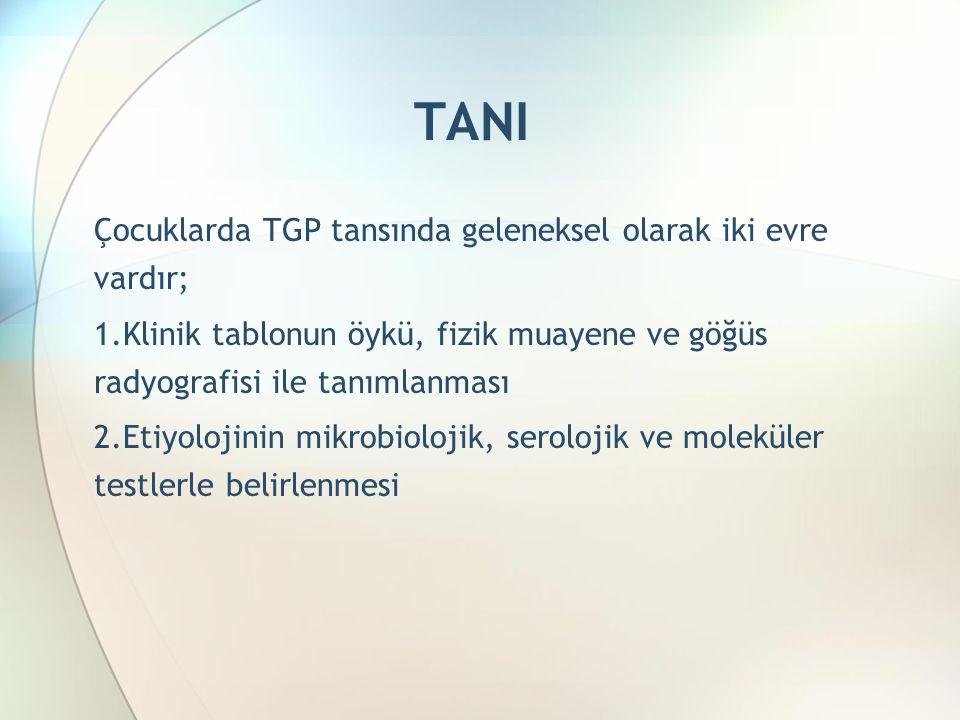 TANI Çocuklarda TGP tansında geleneksel olarak iki evre vardır;