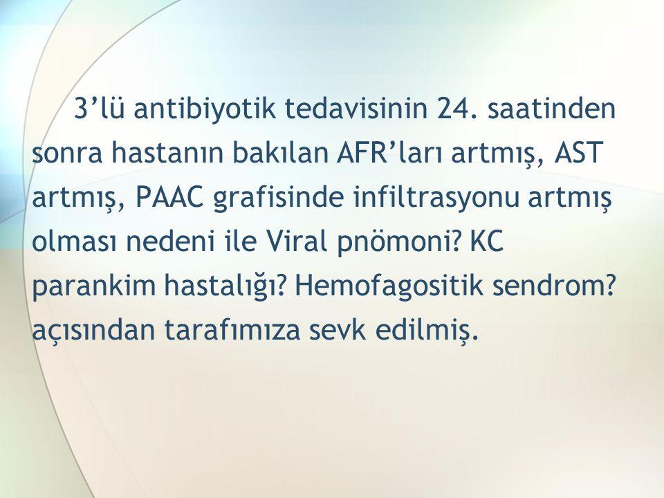 3'lü antibiyotik tedavisinin 24