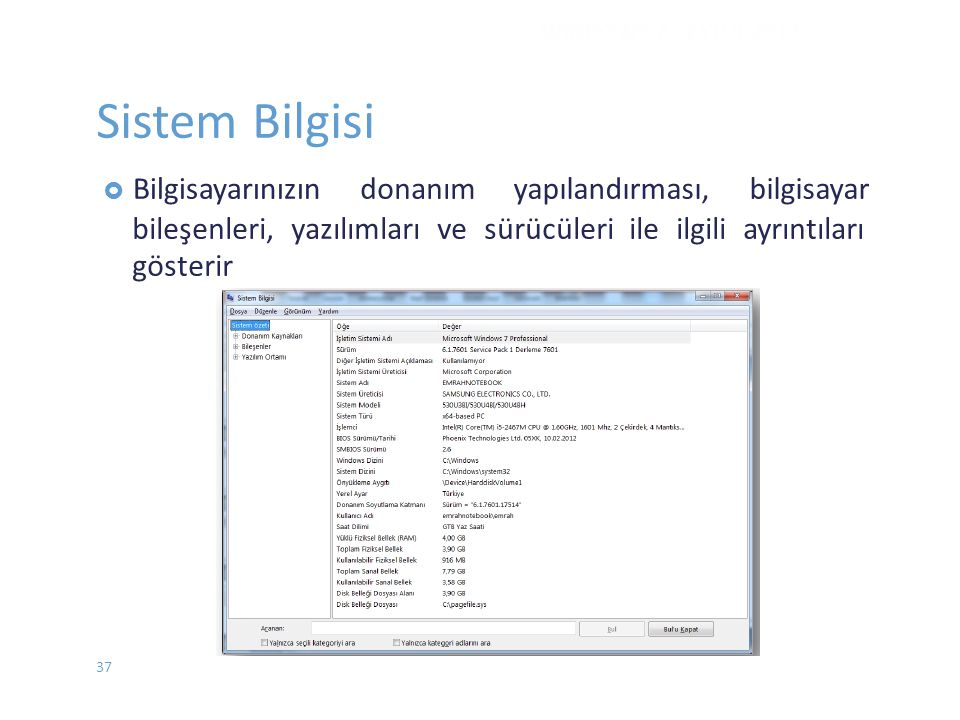 Sistem Bilgisi donanım yapılandırması, bilgisayar