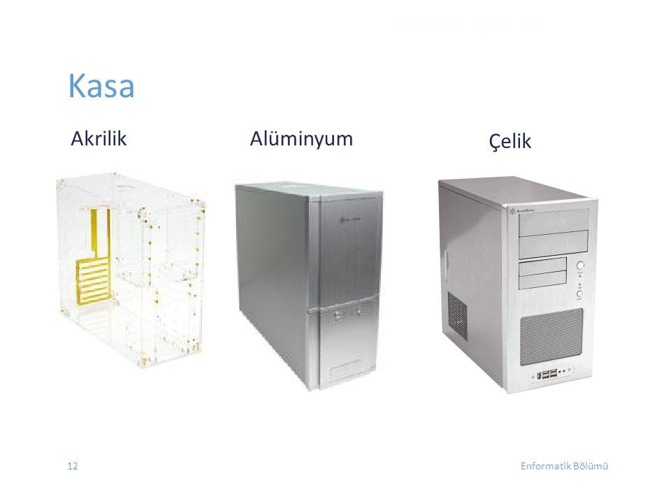 DONANIM - EYLÜL 2012 Çelik Kasa Akrilik Alüminyum 12 Enformatik Bölümü