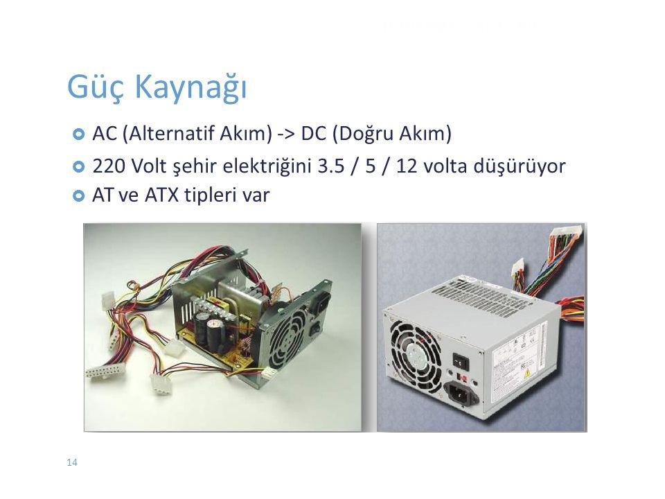 Güç Kaynağı ve ATX tipleri var DONANIM - EYLÜL 2012