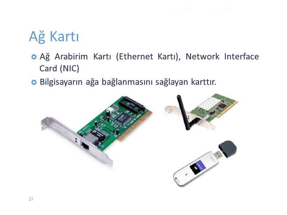 Ağ Kartı Arabirim Kartı (Ethernet Kartı), Network Interface