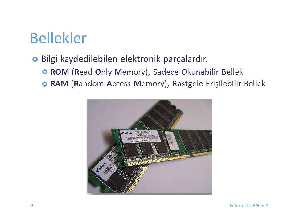 Bellekler ROM (Read Only Memory), Sadece Okunabilir Bellek