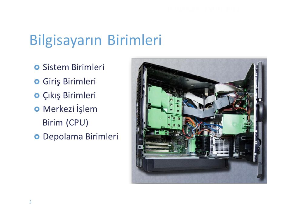 Bilgisayarın Birimleri