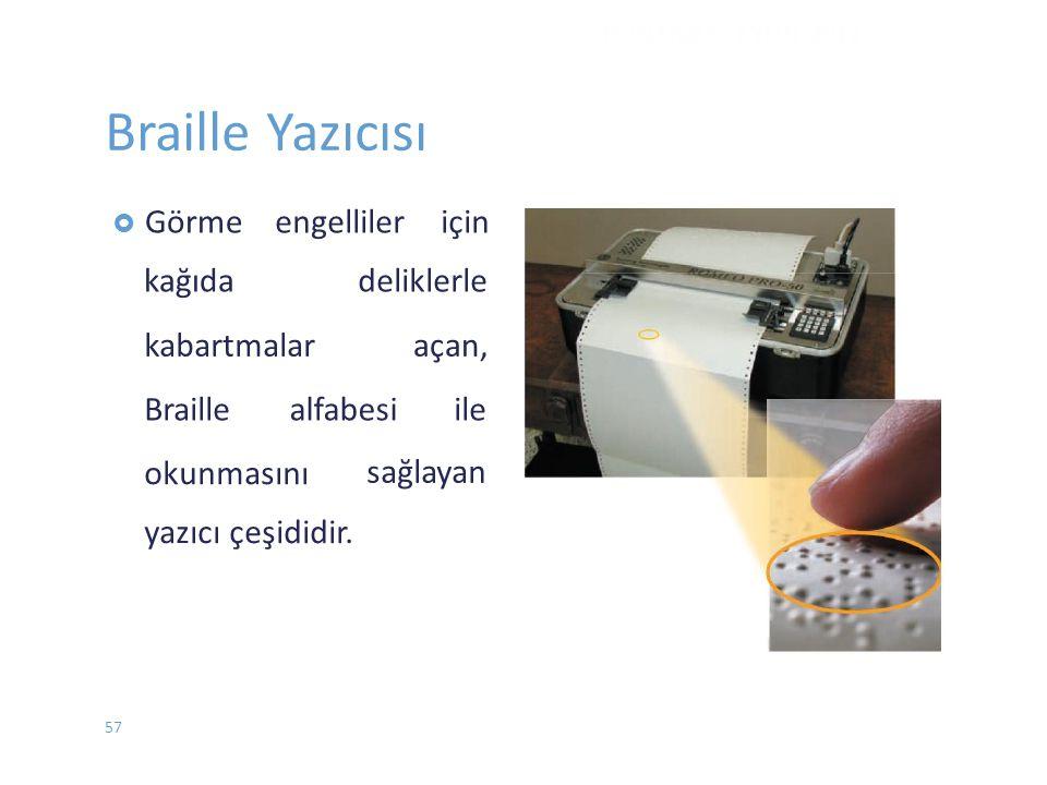 Braille Yazıcısı engelliler için kabartmalar açan, Braille alfabesi
