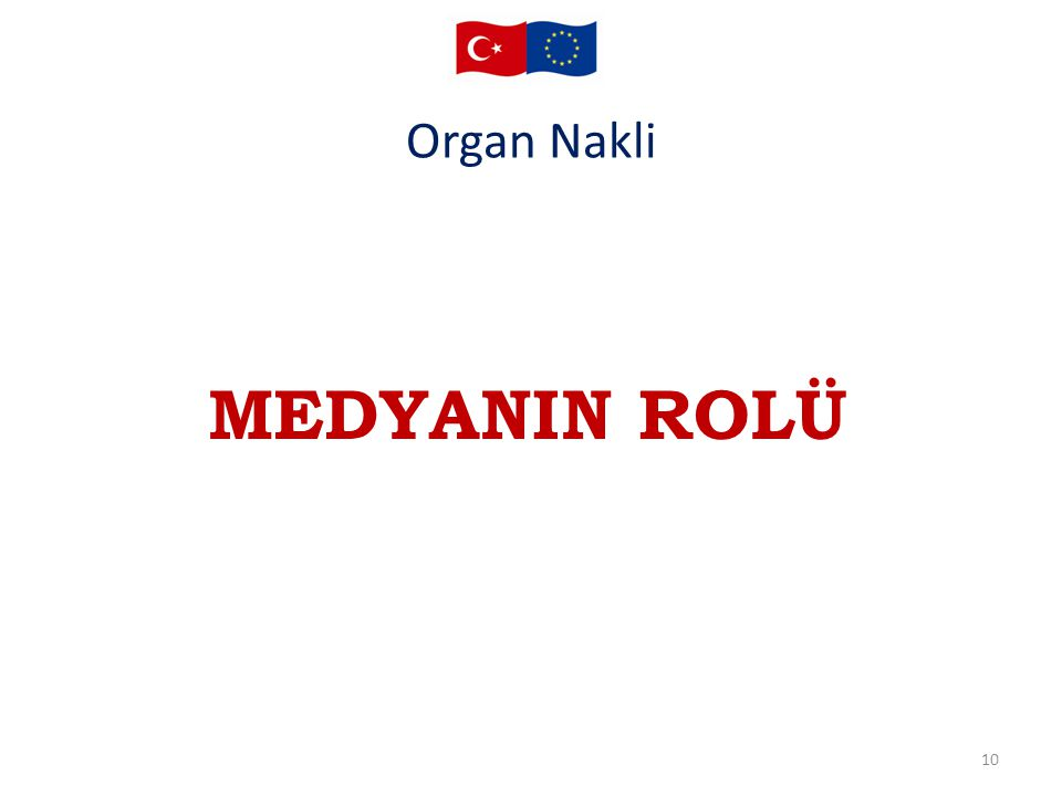 Organ Nakli MEDYANIN ROLÜ