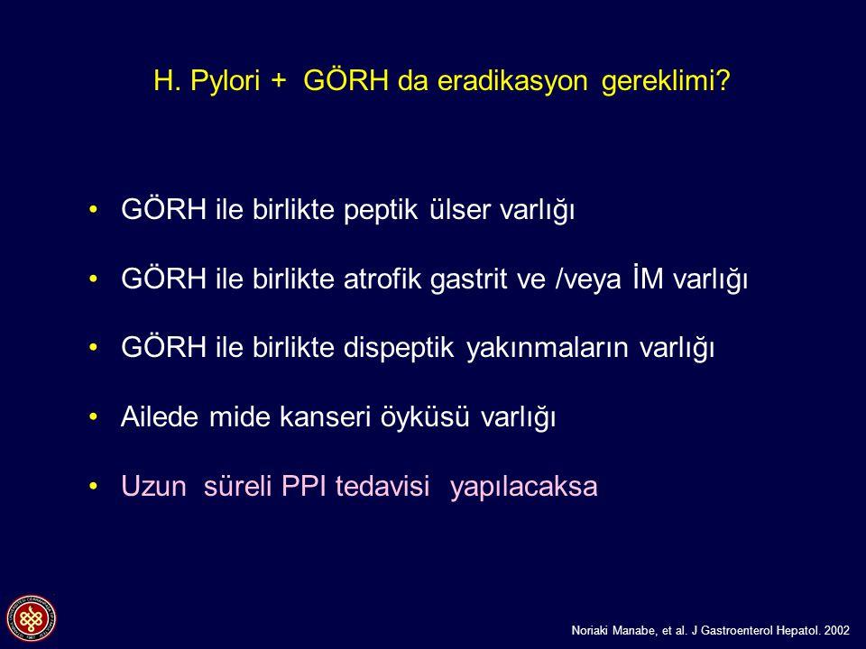 H. Pylori + GÖRH da eradikasyon gereklimi