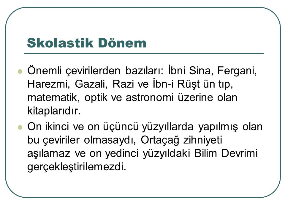 Skolastik Dönem 11.