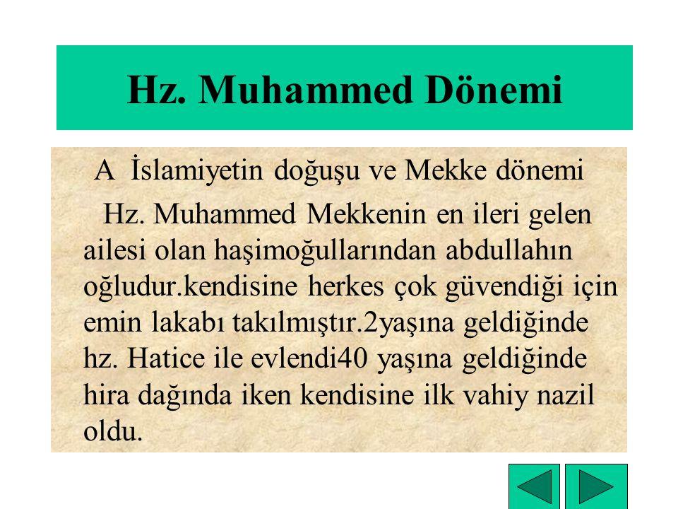 A İslamiyetin doğuşu ve Mekke dönemi