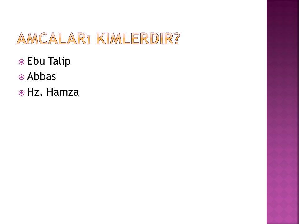 Amcaları kimlerdir Ebu Talip Abbas Hz. Hamza
