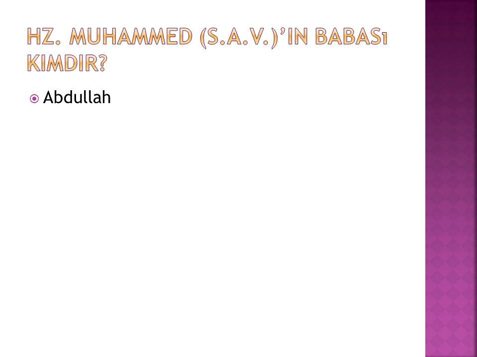 Hz. Muhammed (s.a.v.)'in babası kimdir