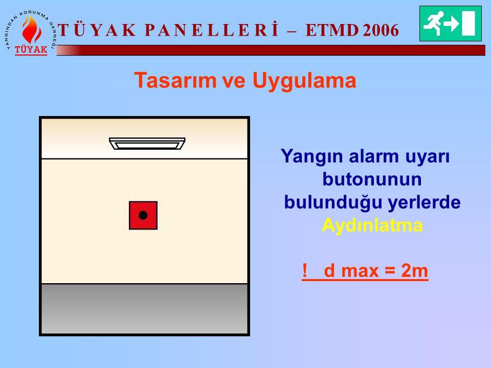 Yangın alarm uyarı butonunun bulunduğu yerlerde Aydınlatma