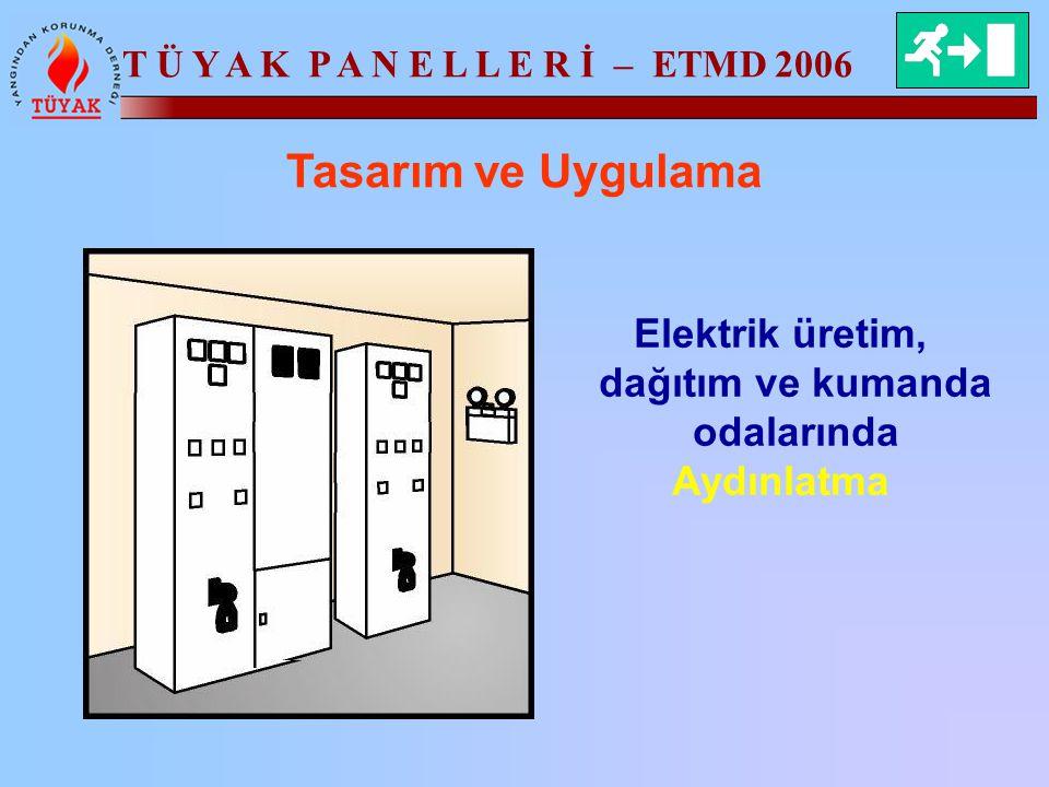 Elektrik üretim, dağıtım ve kumanda odalarında