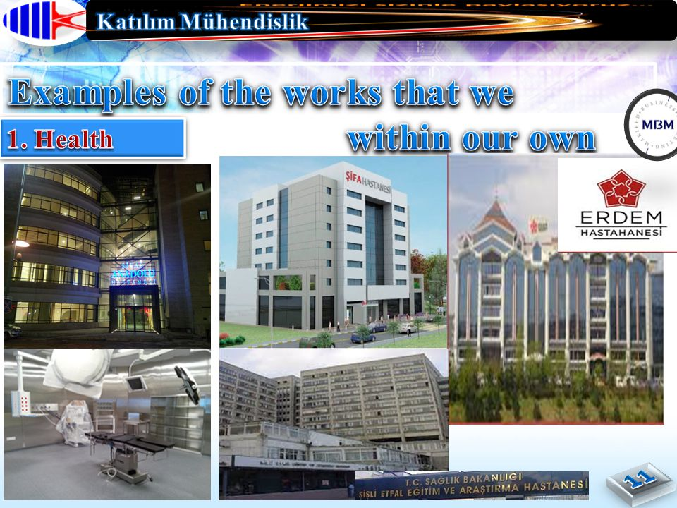 Examples of the works that we finished within our own country.