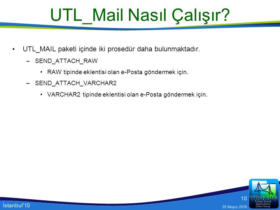 UTL_Mail Nasıl Çalışır