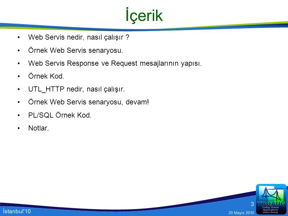 İçerik Web Servis nedir, nasıl çalışır Örnek Web Servis senaryosu.