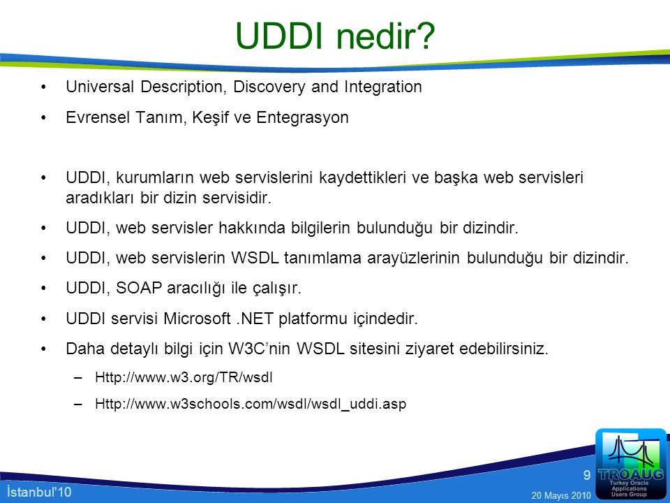 UDDI nedir Universal Description, Discovery and Integration