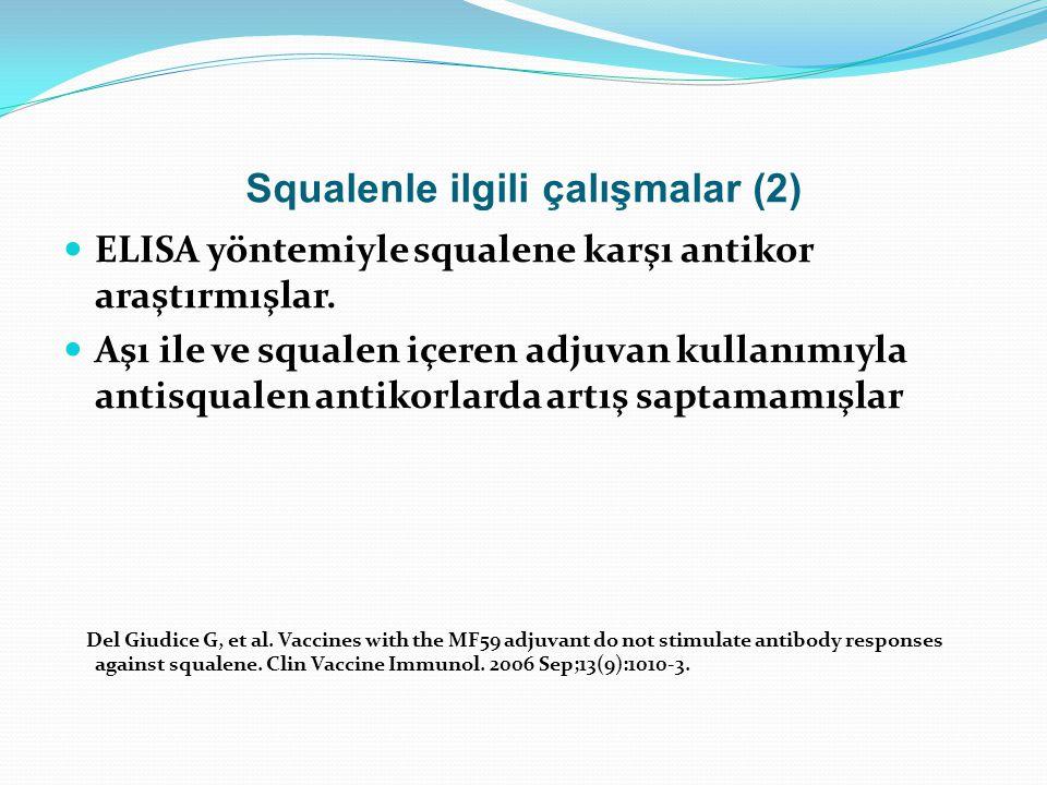 Squalenle ilgili çalışmalar (2)