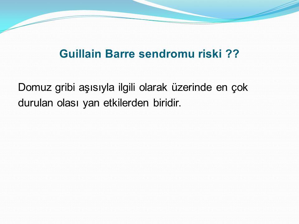 Guillain Barre sendromu riski