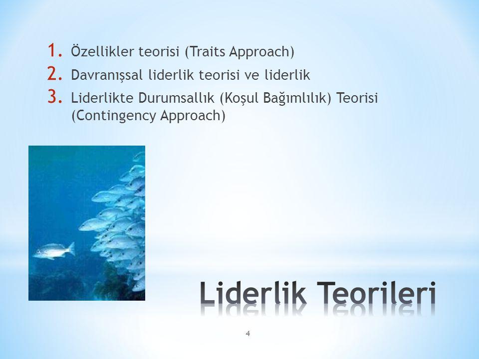 Liderlik Teorileri Özellikler teorisi (Traits Approach)