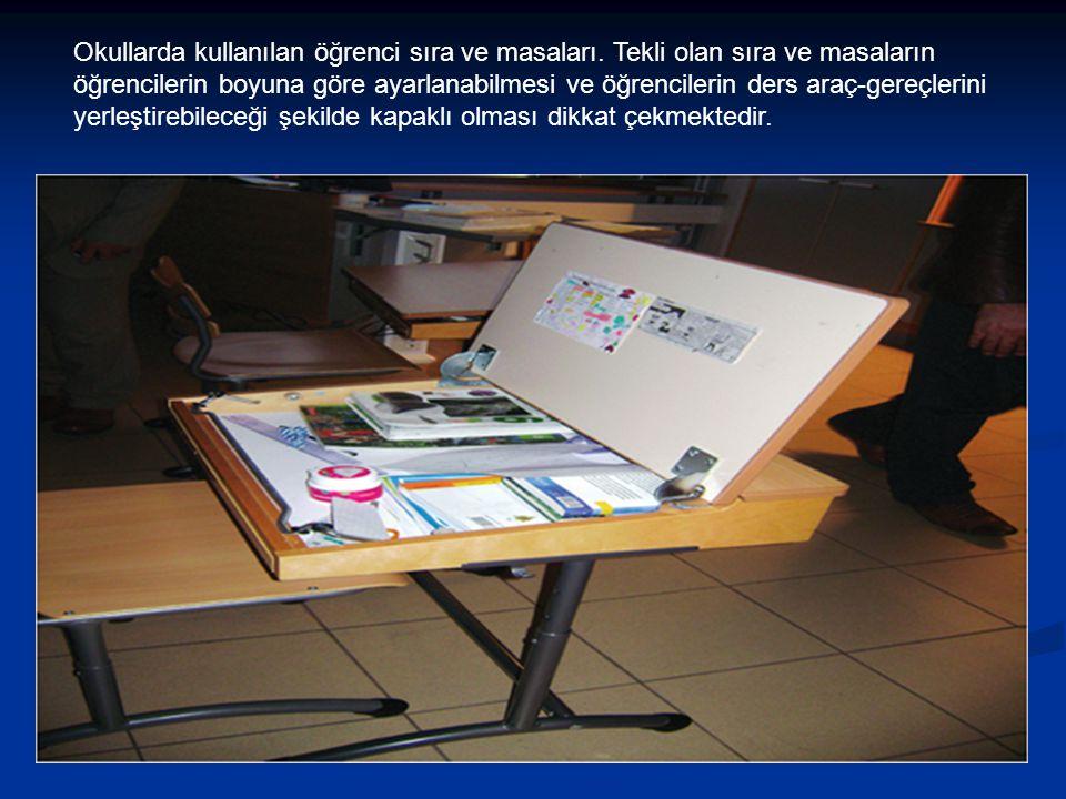 Okullarda kullanılan öğrenci sıra ve masaları