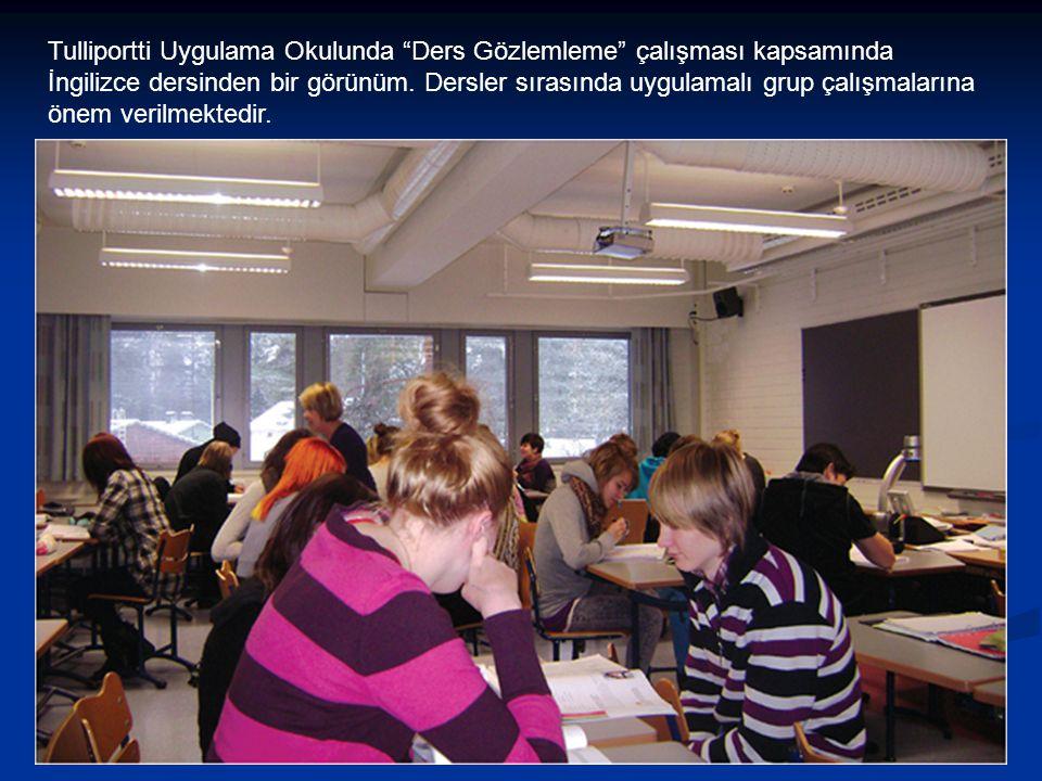Tulliportti Uygulama Okulunda Ders Gözlemleme çalışması kapsamında