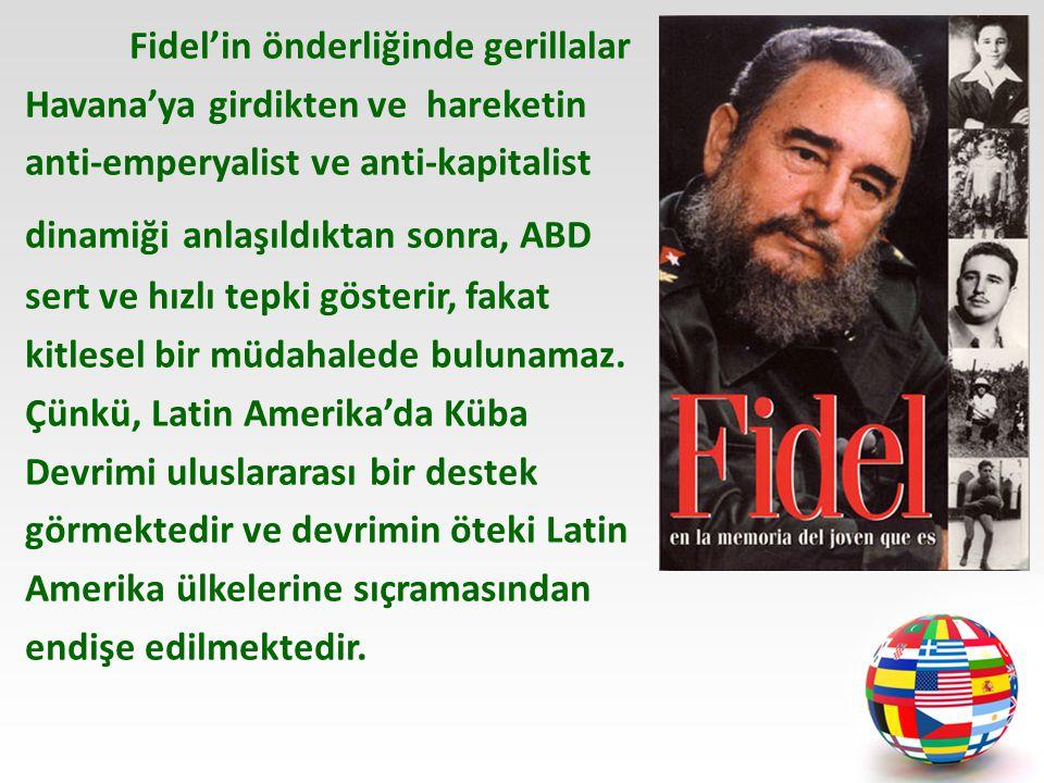 Fidel'in önderliğinde gerillalar