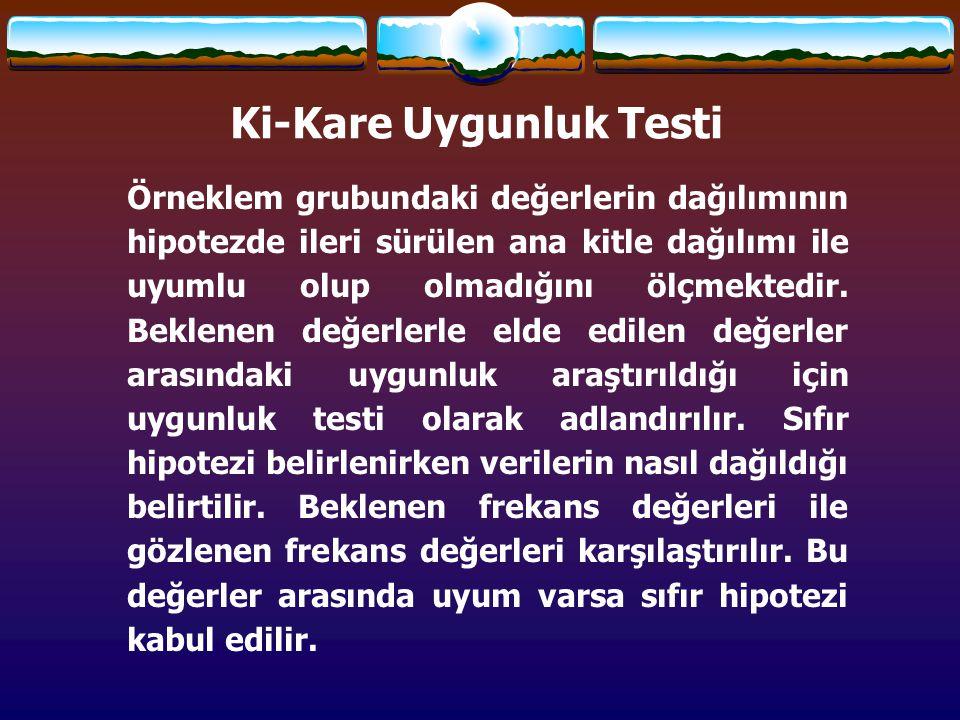Ki-Kare Uygunluk Testi