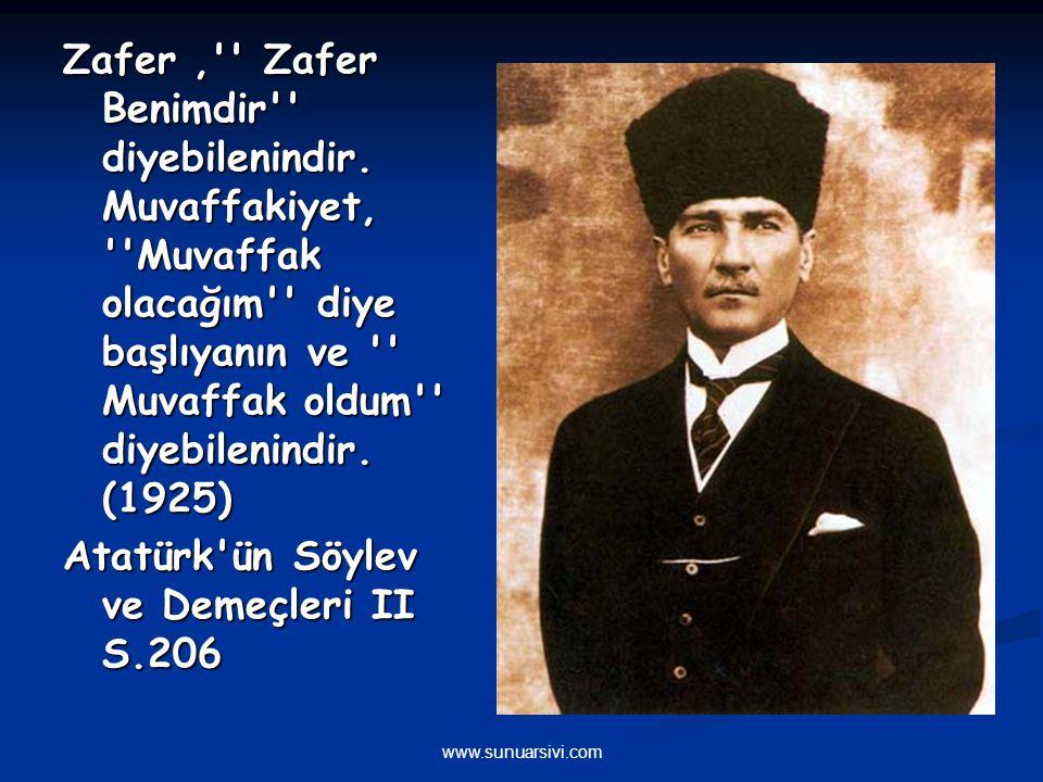 Atatürk ün Söylev ve Demeçleri II S.206