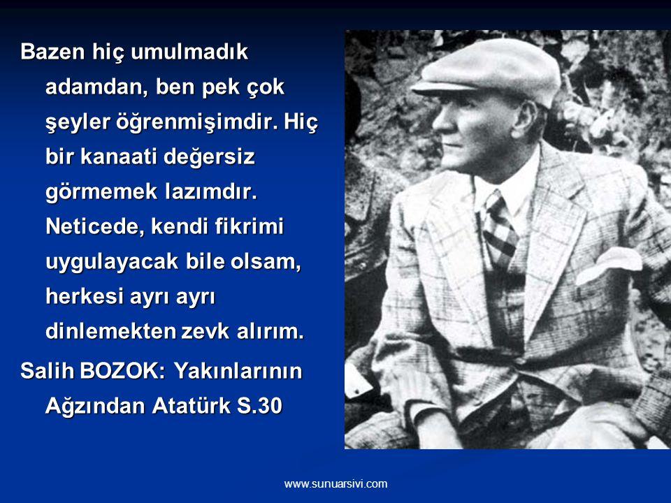 Salih BOZOK: Yakınlarının Ağzından Atatürk S.30