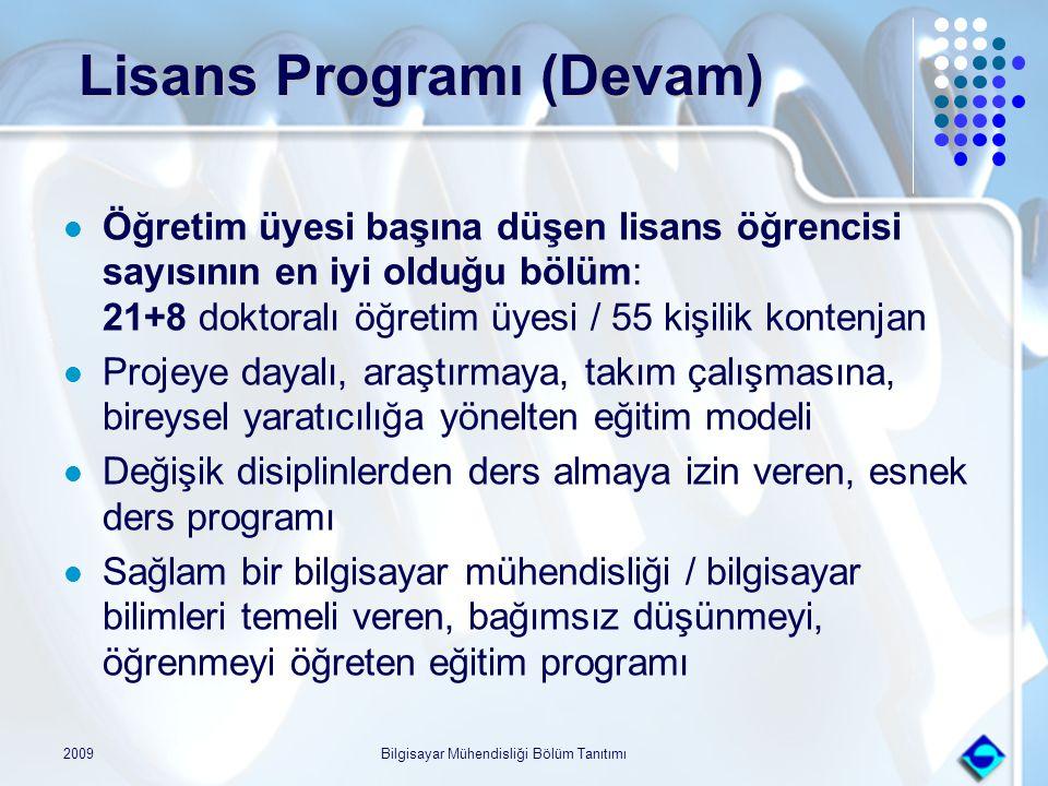 Lisans Programı (Devam)