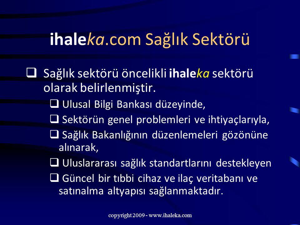ihaleka.com Sağlık Sektörü