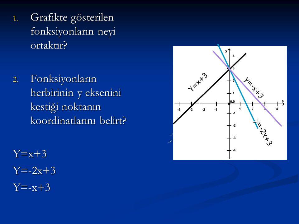 Grafikte gösterilen fonksiyonların neyi ortaktır