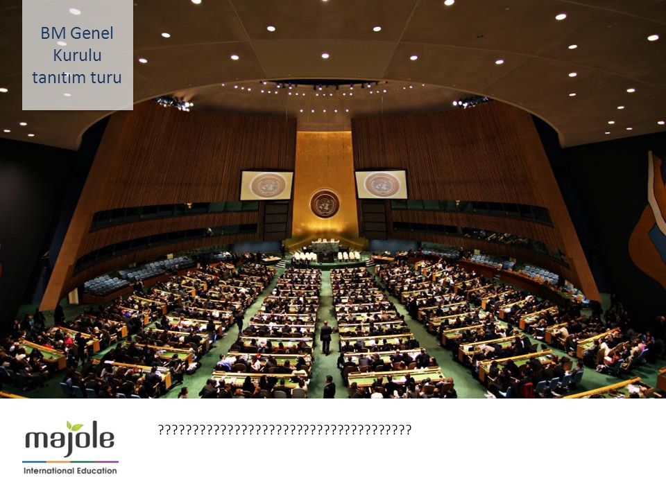 BM Genel Kurulu tanıtım turu