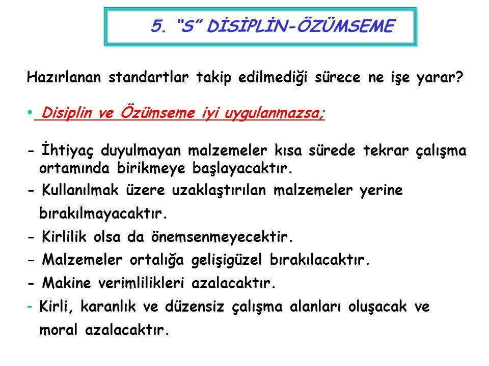 5. S DİSİPLİN-ÖZÜMSEME