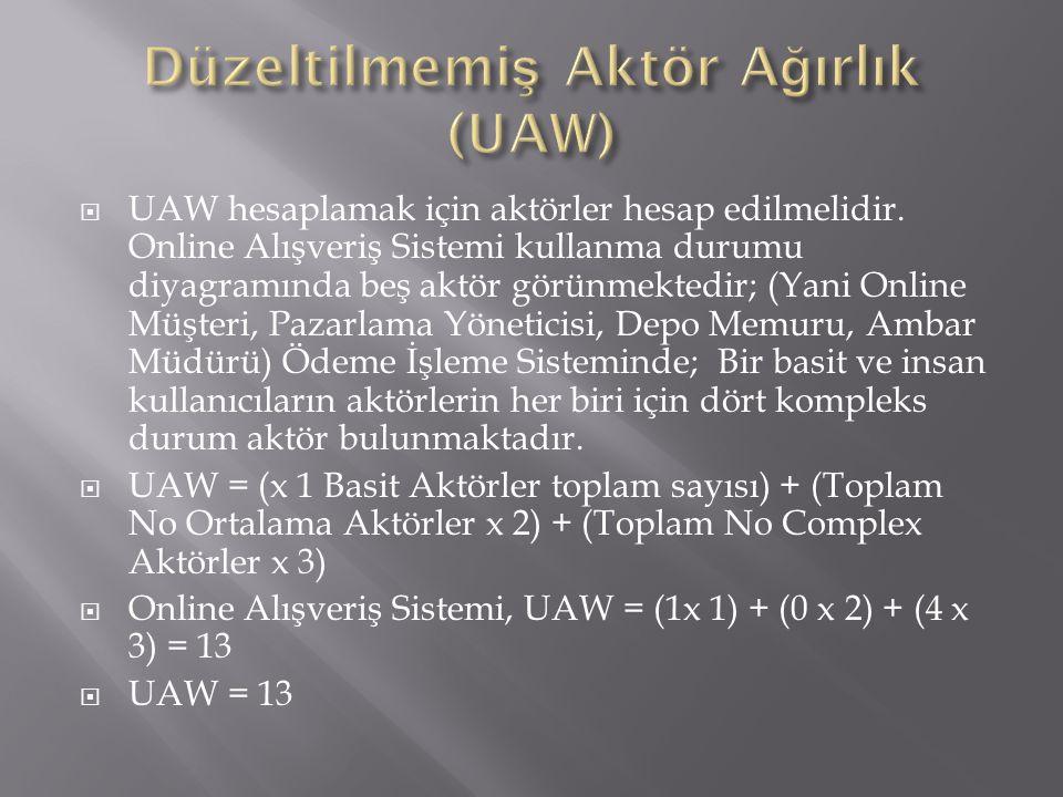Düzeltilmemiş Aktör Ağırlık (UAW)