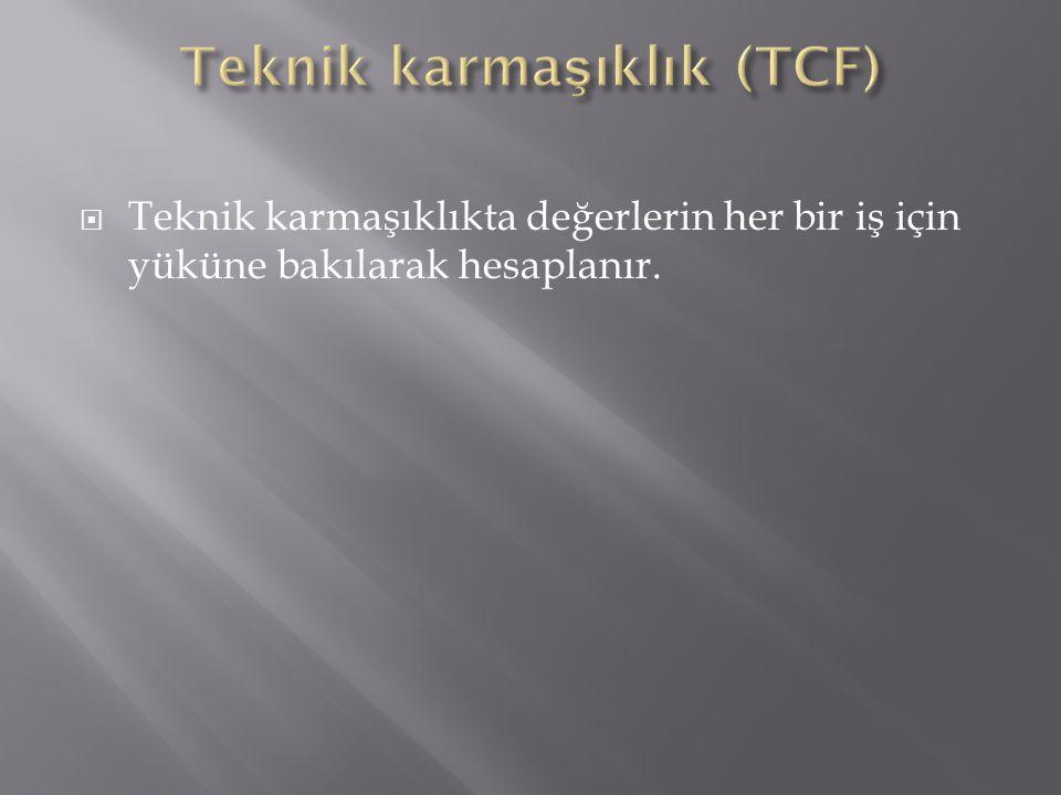 Teknik karmaşıklık (TCF)