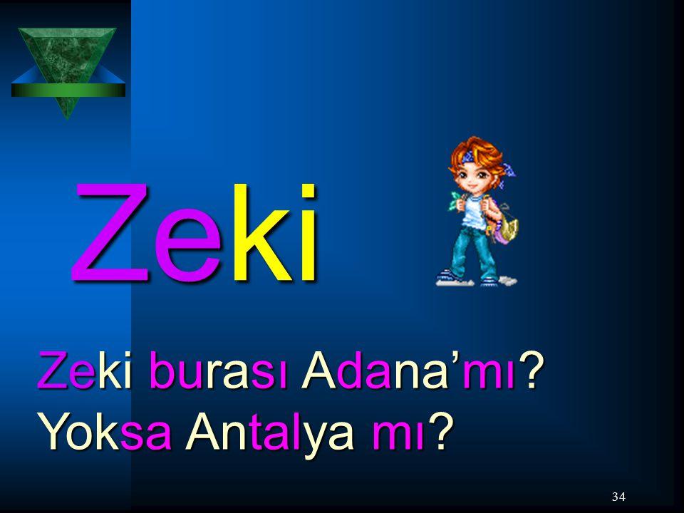 Zeki Zeki burası Adana'mı Yoksa Antalya mı