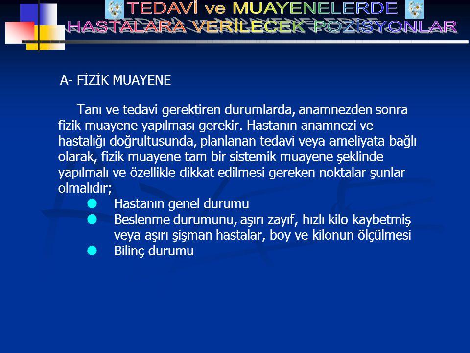 A- FİZİK MUAYENE