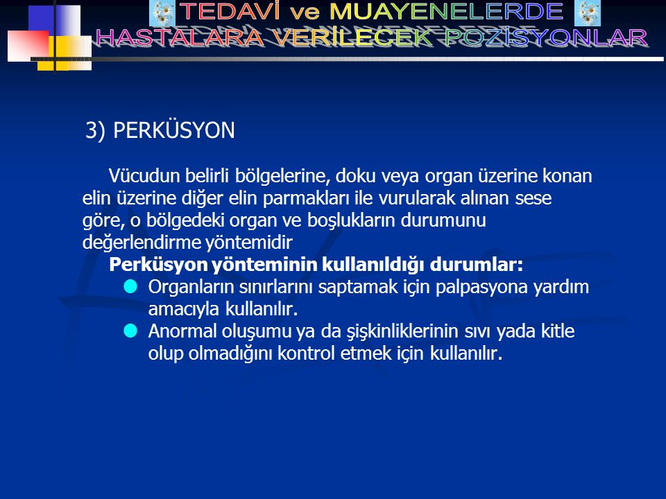 3) PERKÜSYON