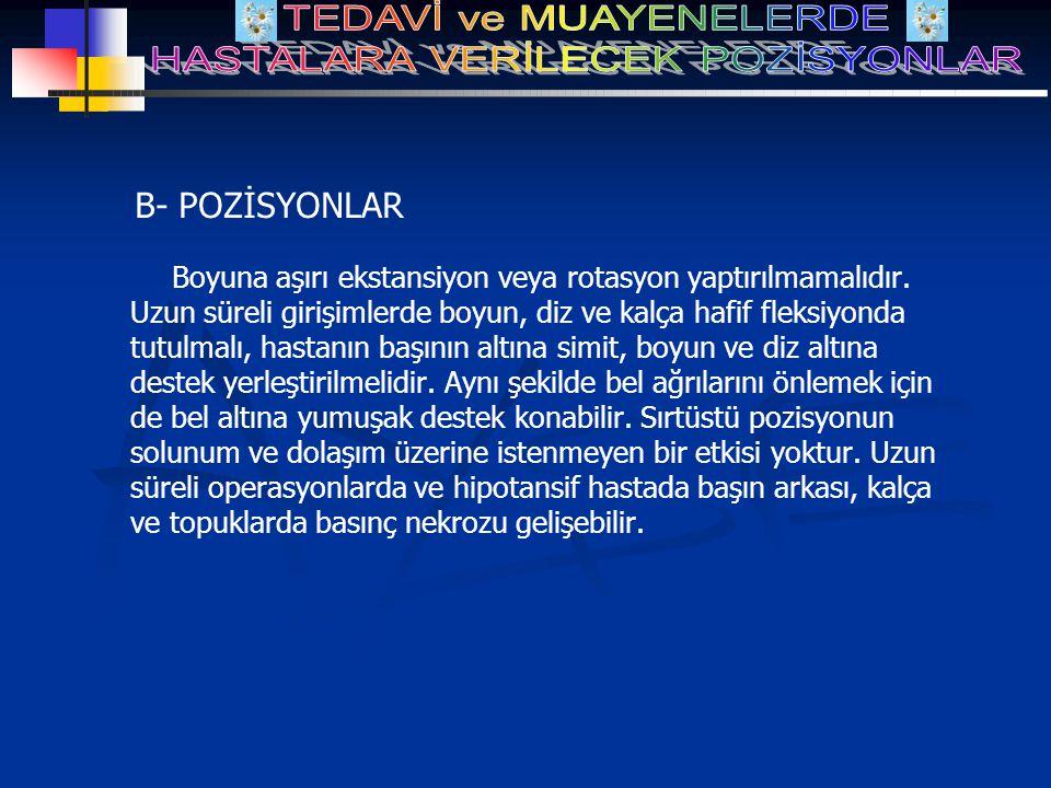 B- POZİSYONLAR
