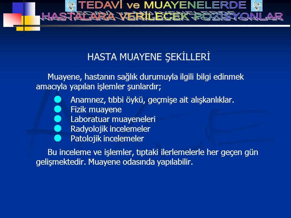 HASTA MUAYENE ŞEKİLLERİ