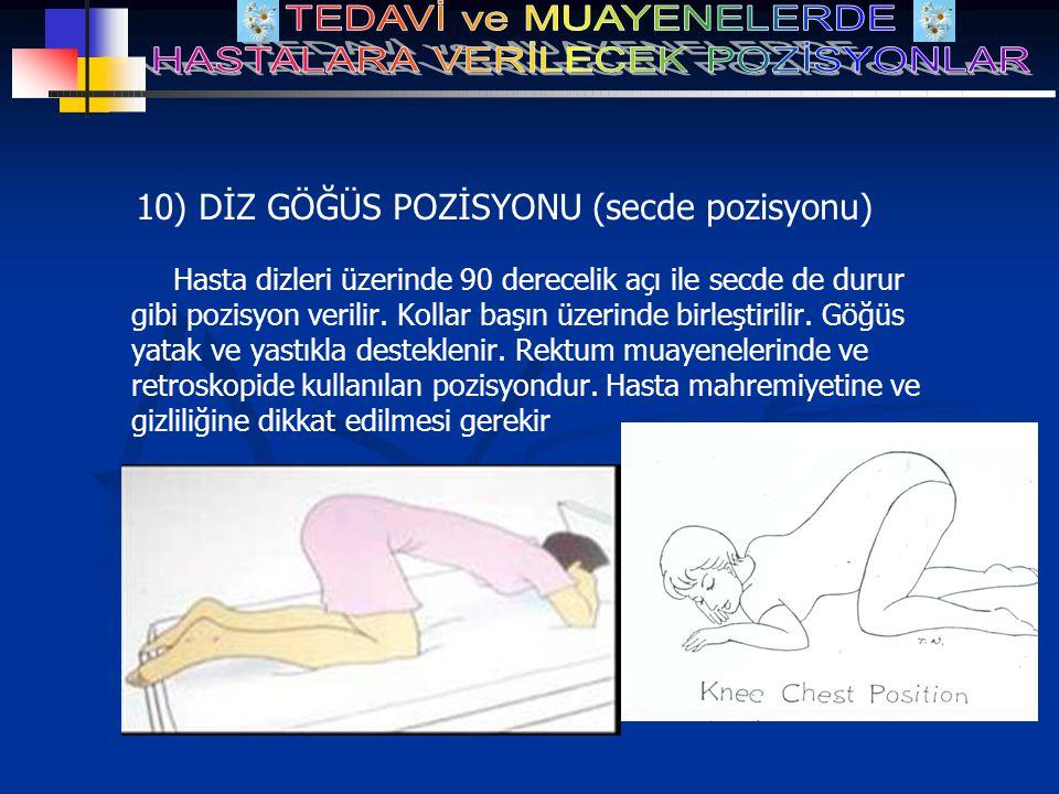 10) DİZ GÖĞÜS POZİSYONU (secde pozisyonu)