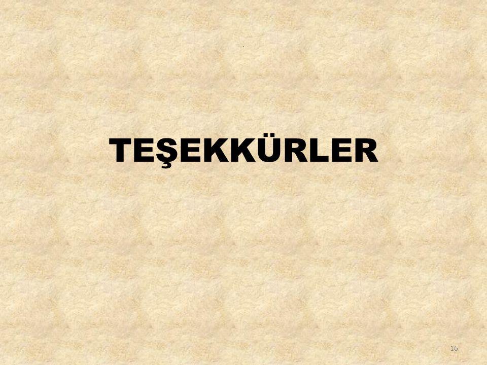 . TEŞEKKÜRLER