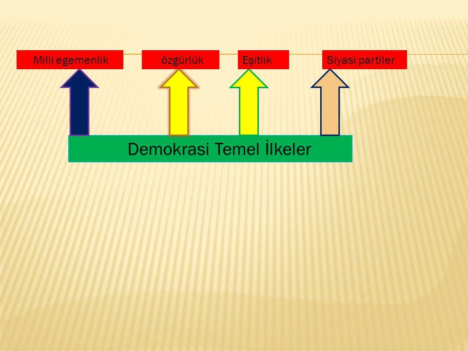 Demokrasi Temel İlkeler