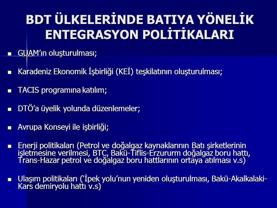 BDT ÜLKELERİNDE BATIYA YÖNELİK ENTEGRASYON POLİTİKALARI