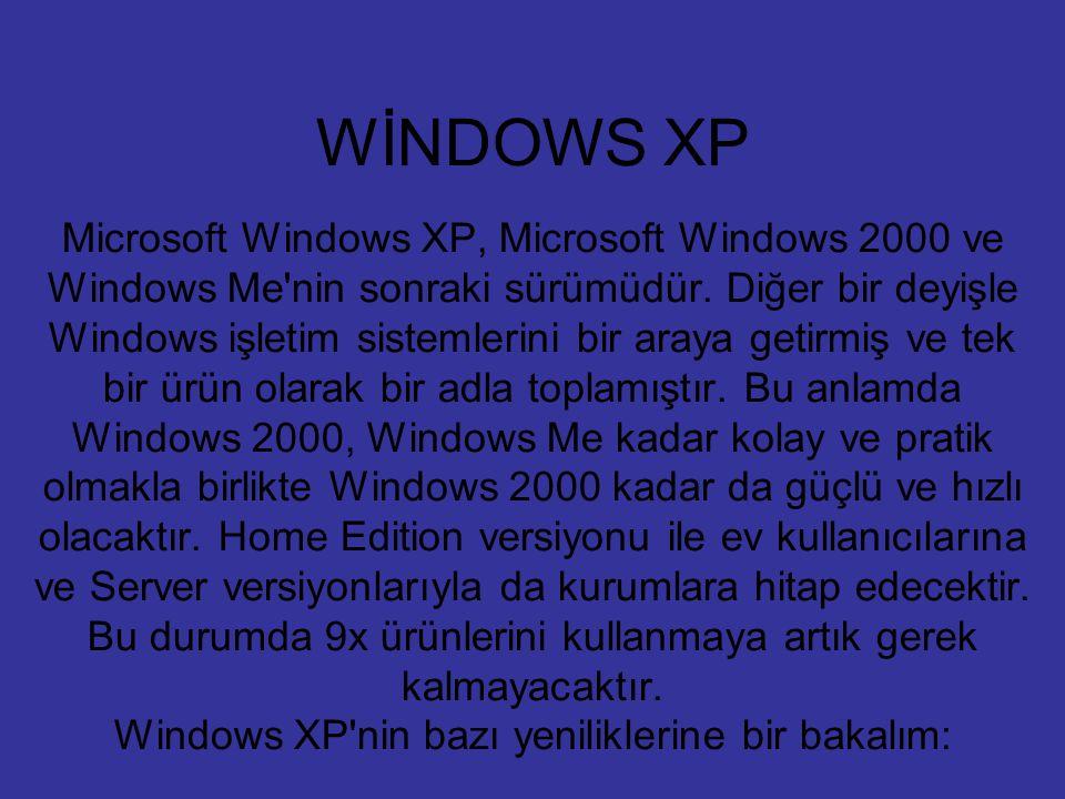 WİNDOWS XP