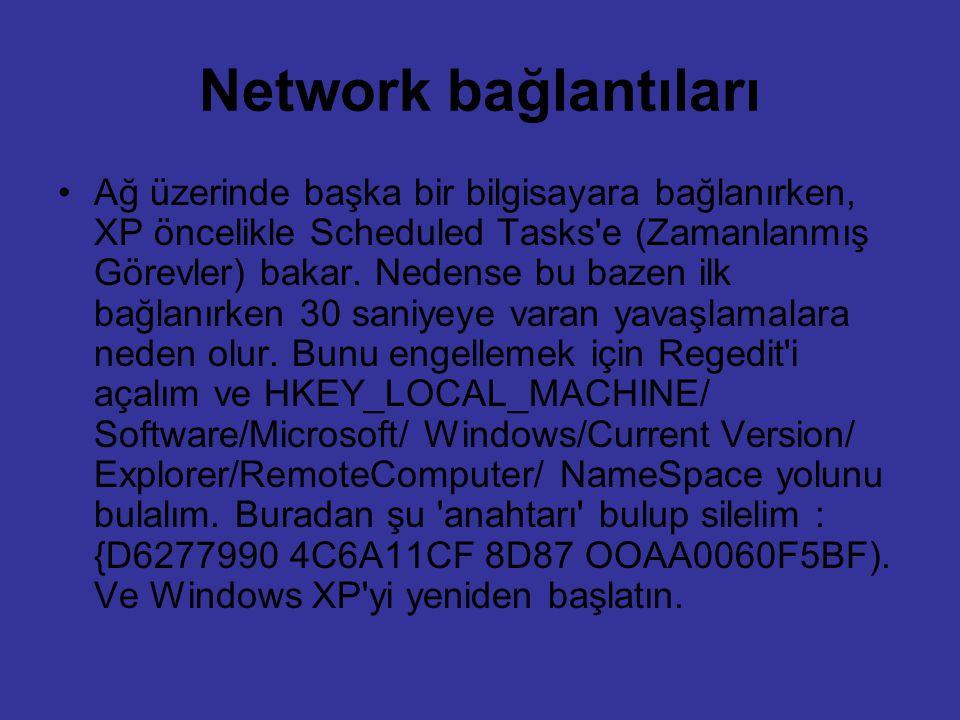 Network bağlantıları
