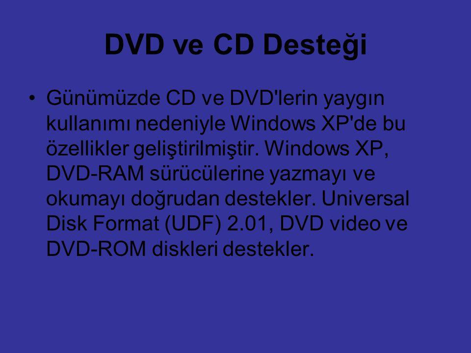DVD ve CD Desteği