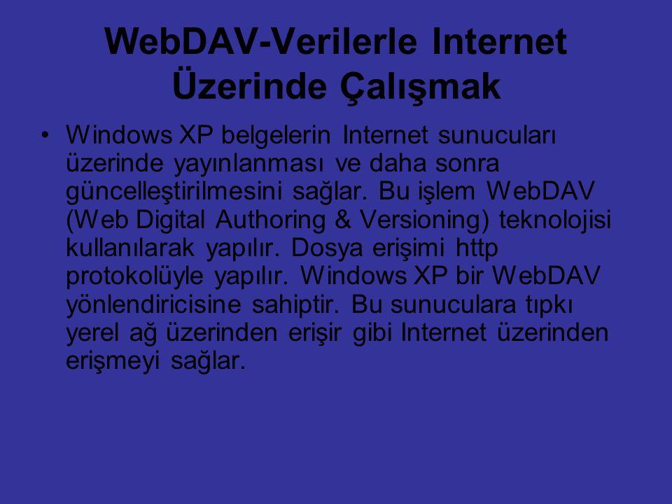 WebDAV-Verilerle Internet Üzerinde Çalışmak